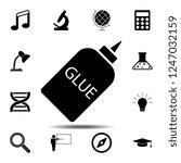 glue vector icon. simple glyph...