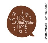 speech bubble with christmas... | Shutterstock .eps vector #1247033080