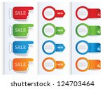 set of colorful arrows and... | Shutterstock .eps vector #124703464