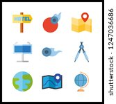 9 geography icon. vector... | Shutterstock .eps vector #1247036686