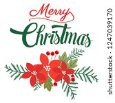merry christmas lettering on... | Shutterstock .eps vector #1247039170