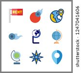 9 geography icon. vector... | Shutterstock .eps vector #1247041606