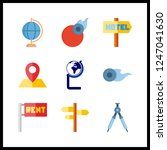 9 geography icon. vector... | Shutterstock .eps vector #1247041630