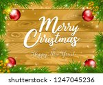 christmas and new year holiday... | Shutterstock .eps vector #1247045236