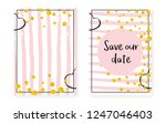 gold glitter sequins with dots. ... | Shutterstock .eps vector #1247046403