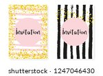 bridal shower set with dots and ... | Shutterstock .eps vector #1247046430