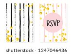 bridal shower set with dots and ... | Shutterstock .eps vector #1247046436