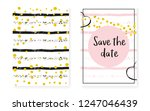gold glitter sequins with dots. ... | Shutterstock .eps vector #1247046439
