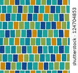 blue endless mosaic square...   Shutterstock .eps vector #124704853