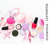 set of beauty accessory and... | Shutterstock . vector #1247049556