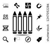 crayon icon. simple glyph...