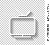 smart tv  analog television.... | Shutterstock .eps vector #1247057989