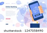 flat design web page and... | Shutterstock .eps vector #1247058490