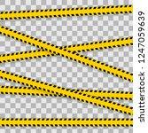 danger lines isolated. warning... | Shutterstock .eps vector #1247059639