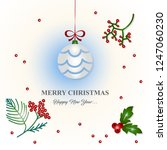 merry christmas and happy new... | Shutterstock .eps vector #1247060230