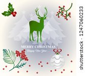 merry christmas and happy new... | Shutterstock .eps vector #1247060233