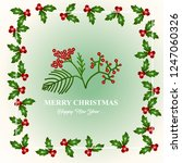 merry christmas and happy new... | Shutterstock .eps vector #1247060326