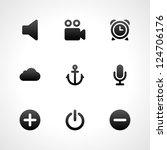 web site vector icons set | Shutterstock .eps vector #124706176