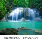 Deep Forest Waterfall At Erawa...