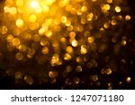 christmas gold glowing... | Shutterstock . vector #1247071180
