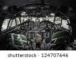 Inside Of Airplane Cockpit