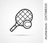 tennis racket and ball trendy... | Shutterstock .eps vector #1247088310