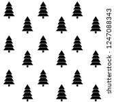 tree christmas monochrome... | Shutterstock .eps vector #1247088343