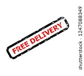 free delivery text rubber stamp ... | Shutterstock .eps vector #1247088349