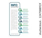 vector infographic template for ... | Shutterstock .eps vector #1247088919