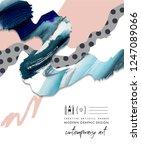 abstract flyer or banner design ...   Shutterstock . vector #1247089066