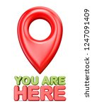 you are here red map pointer 3d ...   Shutterstock . vector #1247091409