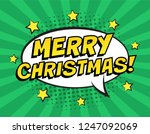 retro comic speech bubble with... | Shutterstock .eps vector #1247092069
