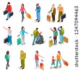 travel people isometric set.... | Shutterstock .eps vector #1247094463