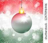 christmas ball colored in the... | Shutterstock .eps vector #1247096446