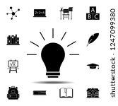 lamp icon. simple glyph vector...