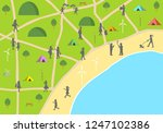 illustration of map camping... | Shutterstock .eps vector #1247102386