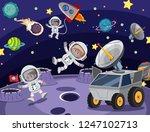 astronaut in the space... | Shutterstock .eps vector #1247102713