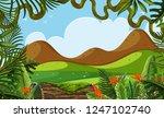 a beautiful jungle landscape... | Shutterstock .eps vector #1247102740