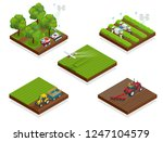isometric agriculture automatic ... | Shutterstock .eps vector #1247104579