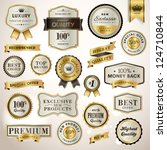 Set luxury labels and ribbons | Shutterstock vector #124710844