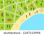 illustration of tourist spot... | Shutterstock .eps vector #1247113996