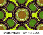 textile fashion  african print... | Shutterstock .eps vector #1247117656
