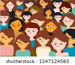 people background vector | Shutterstock .eps vector #1247124583