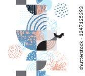 modern seamless geometric... | Shutterstock .eps vector #1247125393