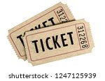 two old movie ticket stub... | Shutterstock . vector #1247125939
