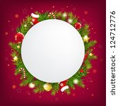 merry christmas speech bubble... | Shutterstock .eps vector #124712776