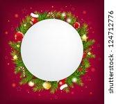merry christmas speech bubble... | Shutterstock .eps vector #124712776