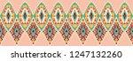 ikat geometric folklore...   Shutterstock .eps vector #1247132260