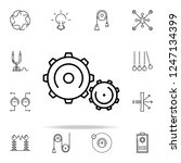 mechanism icon. physics icons... | Shutterstock .eps vector #1247134399