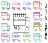 indian food truck icon.... | Shutterstock .eps vector #1247136169